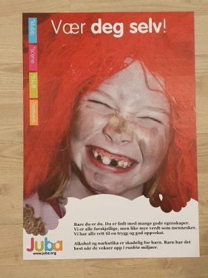 Plakat med glade barn